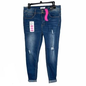 Between Us Ella Rolled Cuff Jean Mid-rise Size 14
